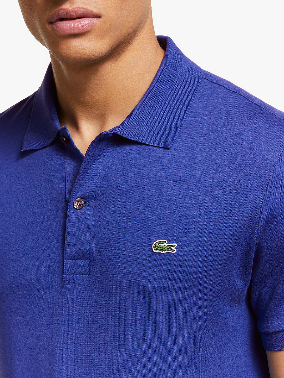 Lacoste Solid Pima Cotton Short-Sleeve Polo Shirt